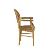 Chandelle Armchair in Gold with Gold Seat Pad