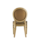 Chandelle Chair in Gold with Gold Seat Pad
