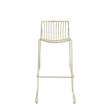 Gianni Square Bar Stool in Gold