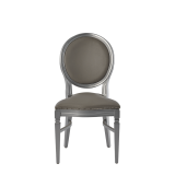 Chandelle Chair in Silver with Grey Seat Pad