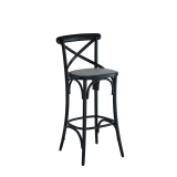 Coco Bar Stool in Black with Grey Seat Pad