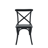 Coco Chair in Black with Grey Seat Pad