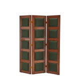 CKC Screen in Antique Walnut with Hunter Green Panels