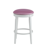 Beli Bar Stool White with Icy Pink Seat Pad