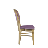Chandelle Chair in Gold with Icy Pink Seat Pad