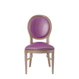 Chandelle Chair in Ivory with Icy Pink Seat Pad