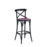 Coco Bar Stool in Black with Icy Pink Seat Pad