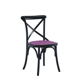 Coco Chair in Black with Icy Pink Seat Pad