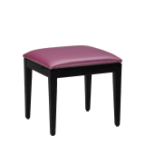 Divano Ottoman in Black with Icy Pink Seat Pad