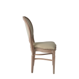Chandelle Chair in Ivory with Ivory Seat Pad