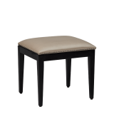 Divano Ottoman in Black with Ivory Seat Pad