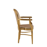 Chandelle Armchair in Gold with Latte Seat Pad