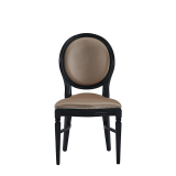 Chandelle Chair in Black with Latte Seat Pad