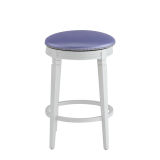 Beli Bar Stool White with Icy Lavender Pad