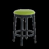 Beli Bar Stool Black with Lime Seat Pad