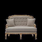Paris Settee Sofa in Gold upholstered in Linen