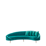 LA Sofa in Maldive Blue Velvet