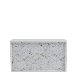 Unico Bar with White Frame and Marble Gold Line Front