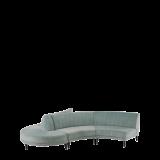 Infinito F Curved Sofa in Seafoam Green