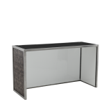 Unico DJ Booth - Steel Frame - Snake Skin Upholstered Panels