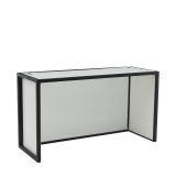 Unico DJ Booth with Black Frame and White Panels