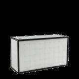 Unico  DJ Booth - Black Frame - White Upholstered Panels