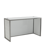Unico DJ Booth - Stainless Steel Frame - White Upholstered Panels