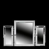 Rectangular Triple Fold Mirror
