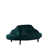 Suzanna Sofa in Emerald Green Velvet