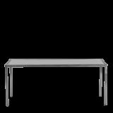 Unico Rectangular Dining Table - Steel Frame - White Top