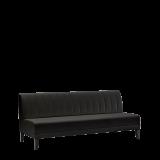 Infinito A Straight Sofa in Black