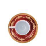 Imperial Red Espresso Cup and Saucer 11 cl