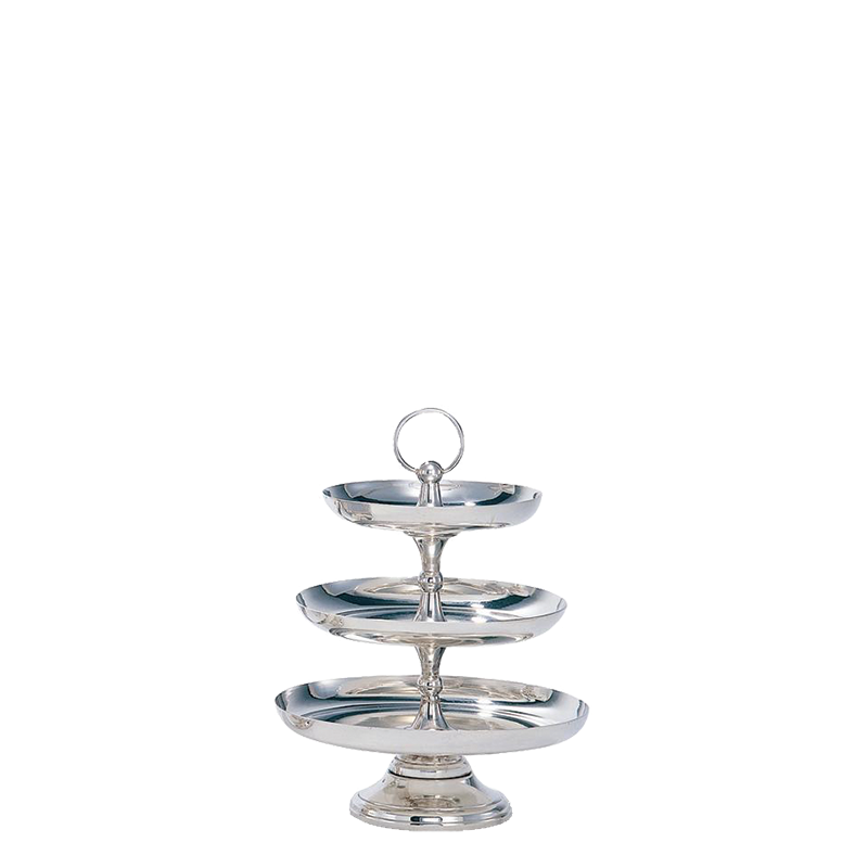 Cake Stand 3 Tiers H 47 cm, Trays Ø 35, 30 and 26 cm