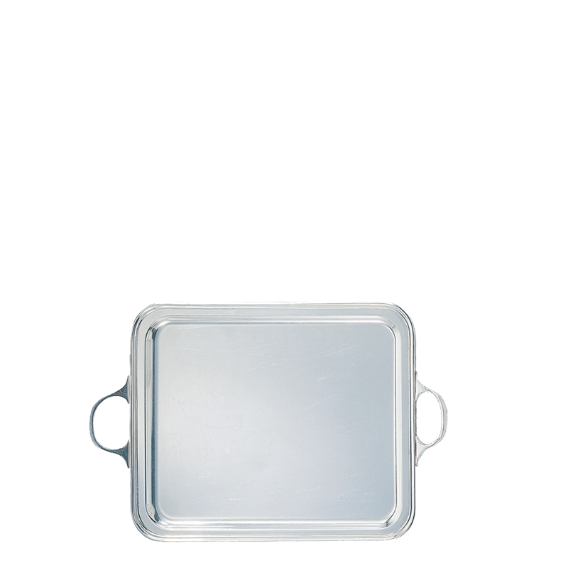 Silver Tray with Handles 40 X 51 cm