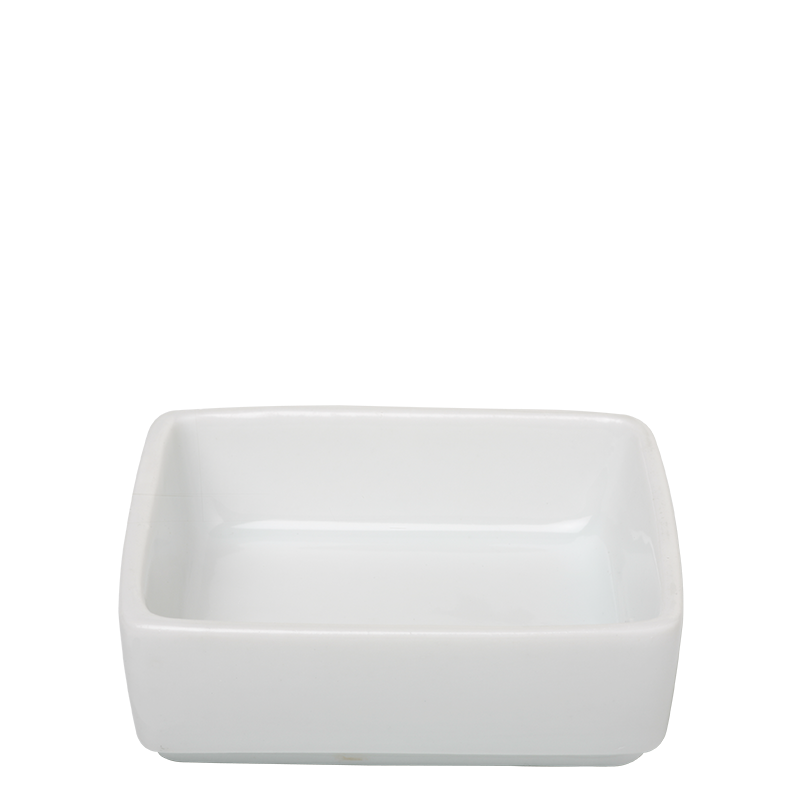 Dish Square Small White 6.5 X 6.5 X 3 cm 4 cl