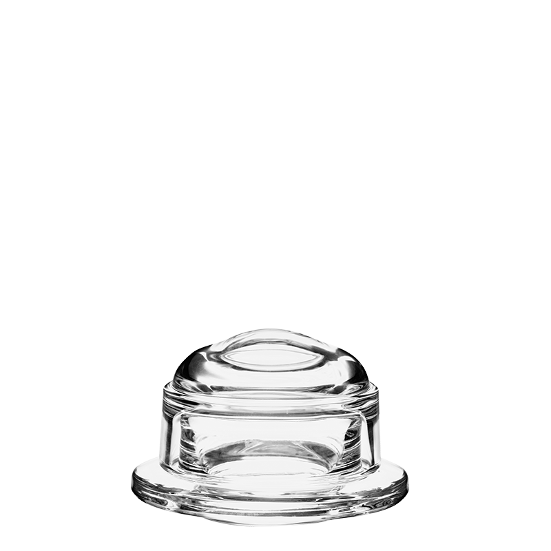 Glass Butter Dish with Bell Top Ø 10 cm Id Ø 5,5 cm