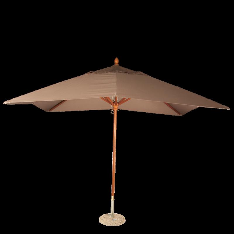Taupe Louisiana Parasol 300 X 300 cm + Granite Stand Ø 50 cm