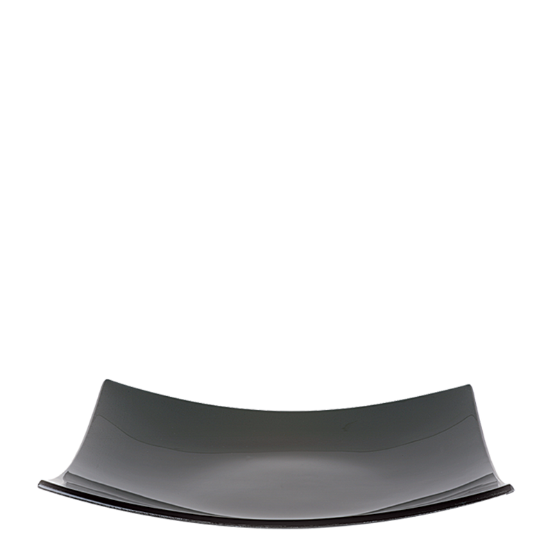 Square Dish Black Glass 29 X 29 cm