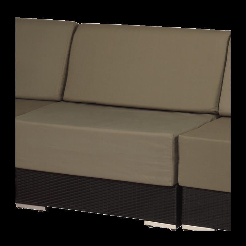 Taupe Woven Lounge Three Seater Sofa L94.48
