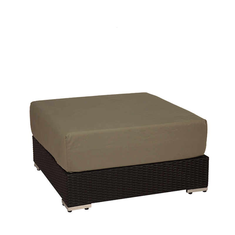 """Taupe Woven Lounge Square Pouffe L 31.49"""" - W 31.49"""" - H 15.74"""""""