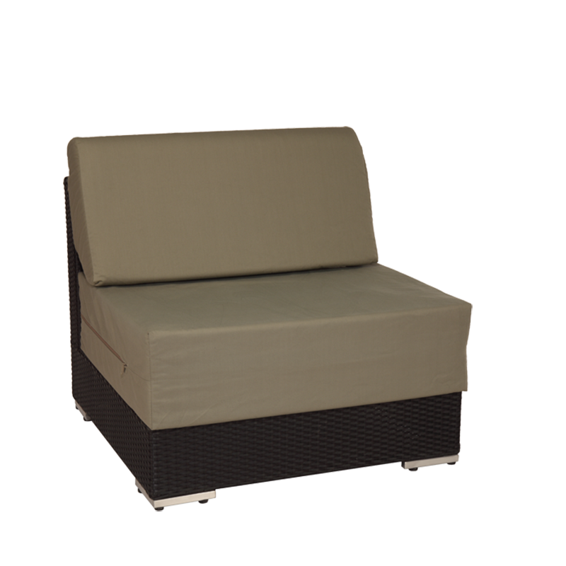 "Taupe Woven Lounge Central Module L 31.49"" - W 31.49"" - H 26.37"""