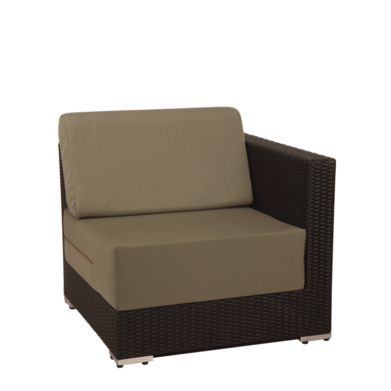 Taupe Woven Lounge Corner Module L 31.49
