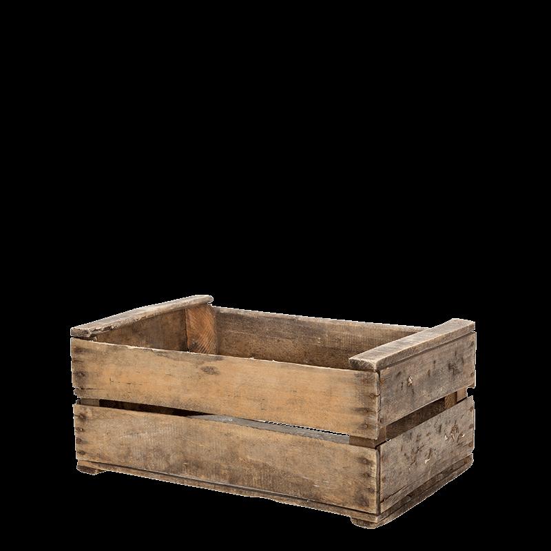 Vintage wooden crate 55 x 24 cm H 35 cm