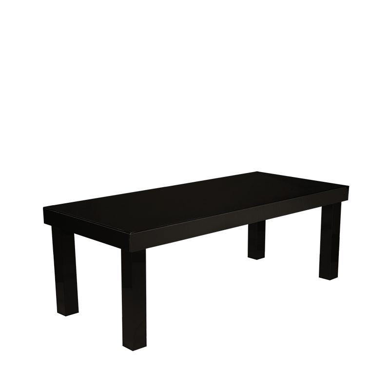 Lacquered Table Black 200 X 90 X 75 cm