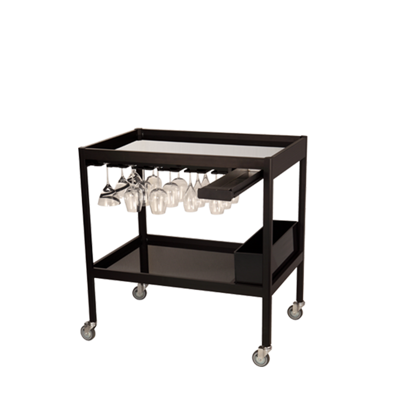 Bar Cart Black 90 X 60 X 95 cm H 95 cm