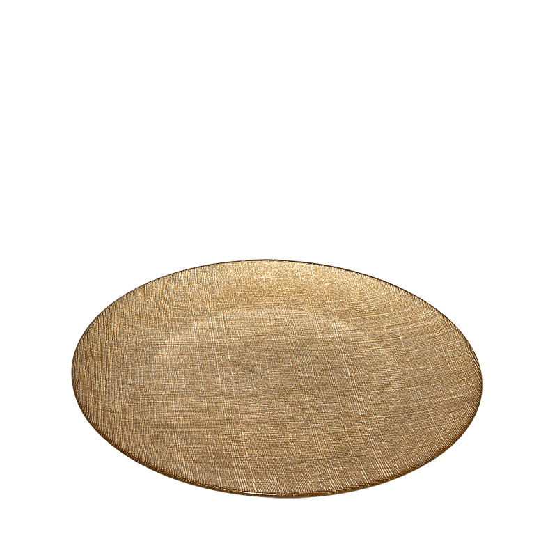 Strass Charger Plate Gold Ø 32 cm