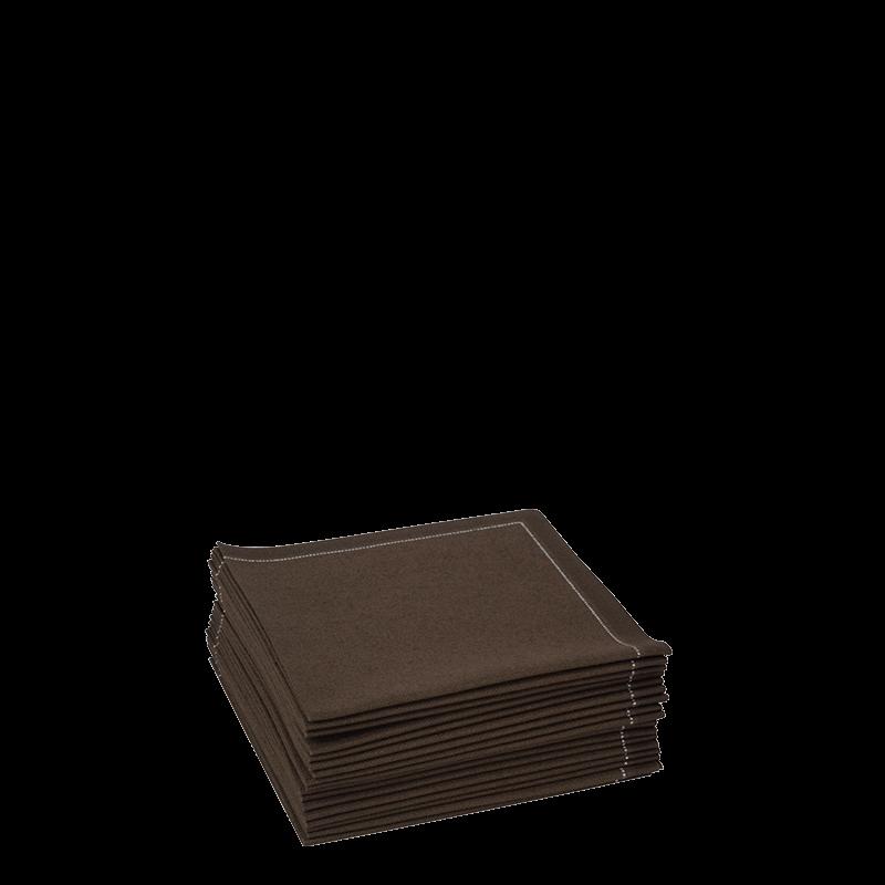 Cocktail Napkin Chocolate Prefolded 20 X 20 cm (Pack Of 30)