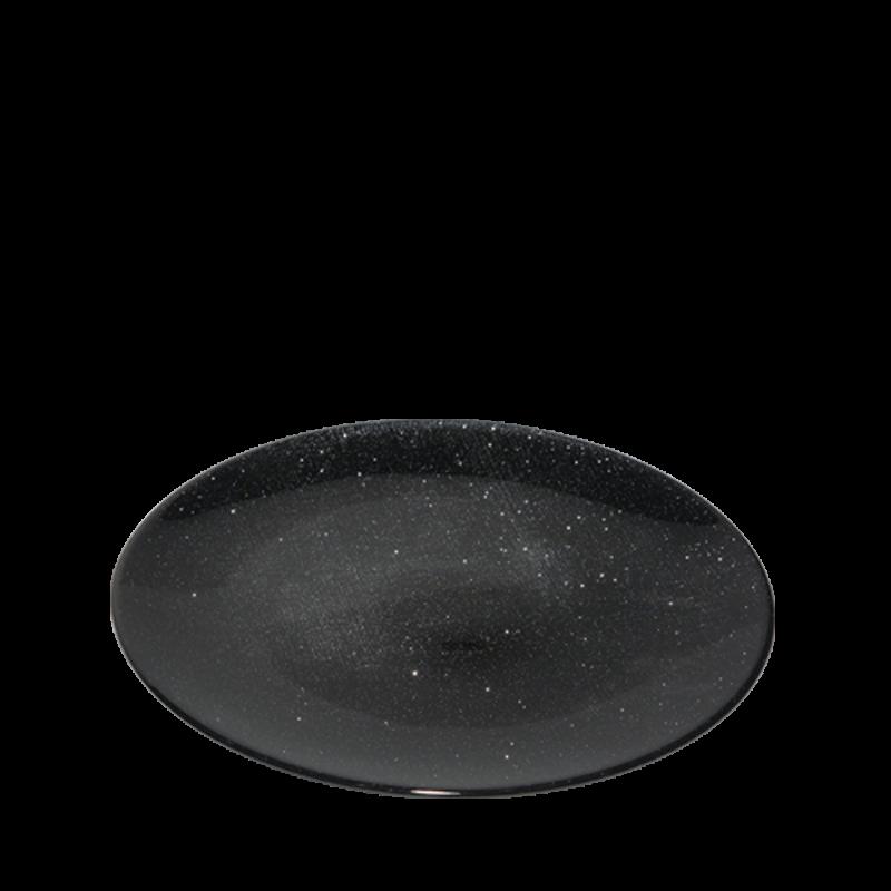 Strass Charger Plate Black Ø 32 cm