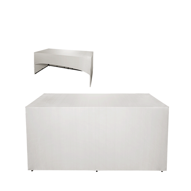 Folding Food Station White Cover 3 Sides L200 X W100 cm H 91 cm