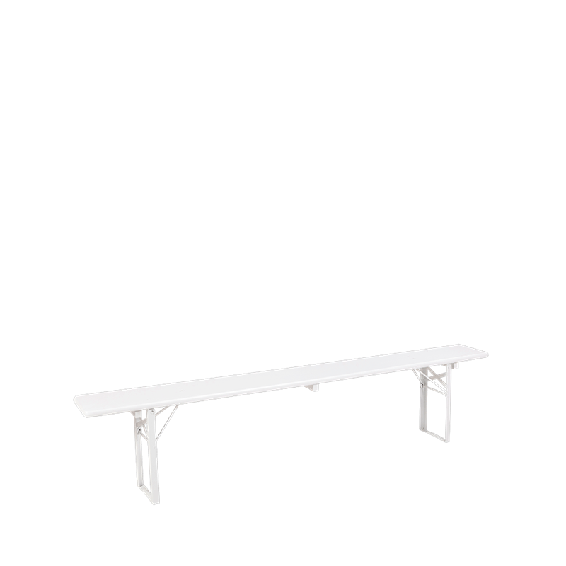 Folding Bench White H 47 W 220 D 25 cm